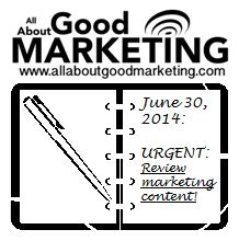 Review your marketing content