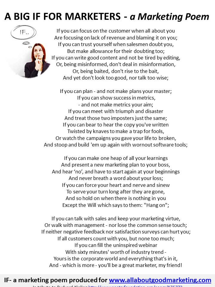 IF poem by All About Good Marketing