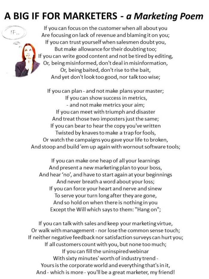 Blog  post IF poem